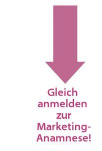 anmelden zur Marketing-Anamnese