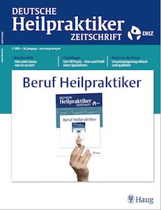 Titelbild Deutsche Heilpraktiker Zeitschrift DHZ 01/21